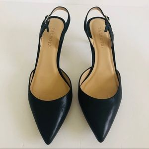 Talbots 9.5 Slingback Kitten Heel Shoes Leather